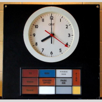 STUDIO SIGNS GENT GALLERY CLOCK picture